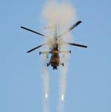 Ataque do foguete de Rooivalk Imagens de Stock