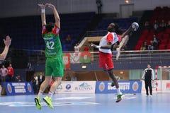 Ataque do handball Foto de Stock