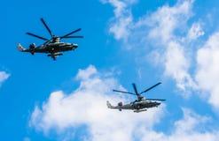 2 ataque do jacaré de Kamov Ka-52 ele Foto de Stock
