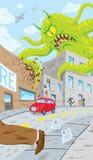 Ataque do monstro Foto de Stock Royalty Free
