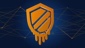 Ataque do processador da fusão com conexão de rede - 3d rendem Fotos de Stock Royalty Free