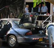 Ataque do terror em Eilat fotografia de stock