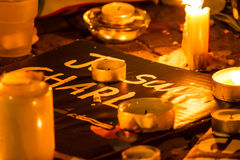 Ataque do terrorismo de Charlie Hebdo Fotografia de Stock Royalty Free