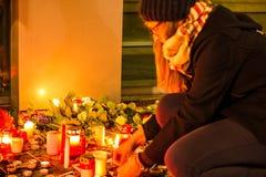 Ataque do terrorismo de Charlie Hebdo Imagem de Stock Royalty Free