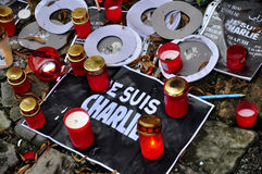 Ataque do terrorismo de Charlie Hebdo Imagens de Stock Royalty Free