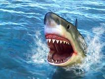 Ataque do tubarão ilustração royalty free