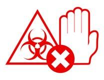 Ataque do vírus Fotos de Stock Royalty Free