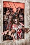 Ataque do zombi Fotografia de Stock