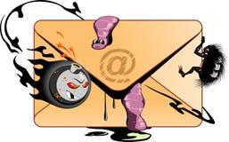 Ataque dos vírus de computador! ilustração stock