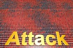 Ataque e Cyberwar de Digitas Fotografia de Stock
