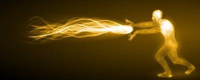 Ataque espiritual da energia ilustração do vetor
