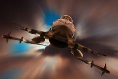 Ataque F16 Fotografia de Stock Royalty Free