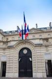 Ataque frontal de los depósitos y del fondo de los envíos en París Foto de archivo libre de regalías