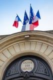 Ataque frontal de los depósitos y del fondo de los envíos en París Imagen de archivo