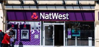 Ataque frontal del banco de NatWest imágenes de archivo libres de regalías