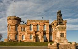 Ataque frontal del sur Escocia del castillo de Inverness Foto de archivo libre de regalías