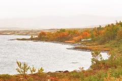 Ataque no lago Stor Sverje, Noruega imagem de stock royalty free