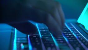 Ataque peligroso del pirata informático almacen de metraje de vídeo