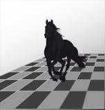 Ataque por un caballo negro Fotos de archivo