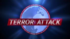 Ataque terrorista Gráficos dinámicos de la difusión stock de ilustración