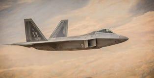 Ataques aéreos da conduta de F-22 s primeiros em Afeganistão F22 Imagens de Stock