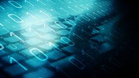 Ataques cibernéticos de la guerra, algoritmo del ordenador fotos de archivo