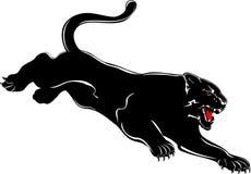 Ataques de la pantera ilustración del vector
