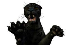 Ataques de la pantera - camino de recortes incluido libre illustration