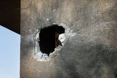 Ataques palestinos del cohete en Israel Foto de archivo