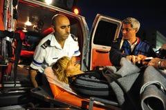 Ataques palestinos del cohete en Israel Fotografía de archivo libre de regalías