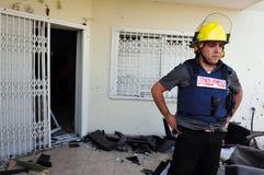 Ataques palestinos del cohete en Israel Imágenes de archivo libres de regalías