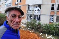 Ataques palestinos del cohete en Israel Foto de archivo libre de regalías