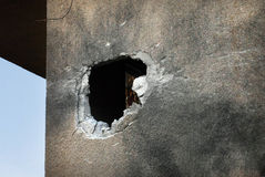 Ataques palestinos do foguete em Israel Foto de Stock