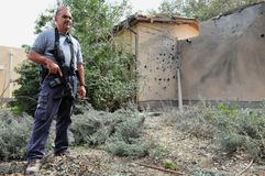 Ataques palestinos do foguete em Israel Fotografia de Stock
