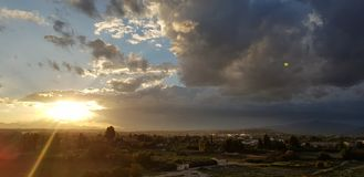 Atardecer, amanecer, sol, Alba, cielo, nube. S stock photos