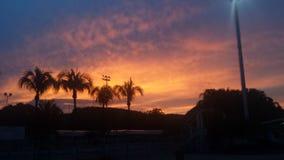 Atardecer/coucher du soleil Photo libre de droits