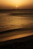 Atardecer de Playa Aruba imágenes de archivo libres de regalías