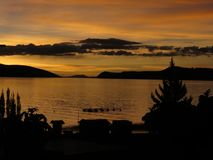 Atardecer en-La Isla lizenzfreie stockbilder
