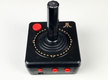 Atari Joystick. An Atari Joystick used to play video games back in the 1980`s and early 90`s royalty free stock images