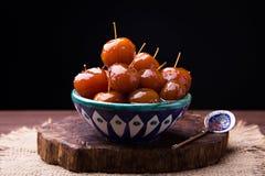 Atasco chino de las manzanas foto de archivo