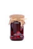Atasco de cereza con las frutas Foto de archivo libre de regalías