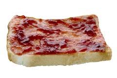 Atasco de fresa en tostada Fotos de archivo