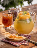 Atasco de la limonada del desayuno Foto de archivo libre de regalías