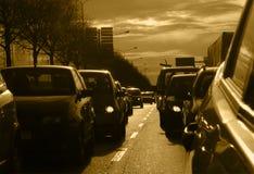 Atasco de la mañana Foto de archivo libre de regalías