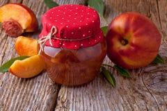 Atasco de la nectarina o del melocotón Foto de archivo libre de regalías