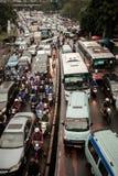 Atasco de Traffick en Lebak Bulus-Jakarta Fotografía de archivo libre de regalías