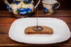 Atasco del chocolate imagen de archivo libre de regalías