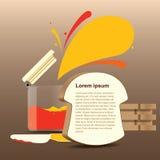 Atasco del pan para el fondo del tiempo del café stock de ilustración