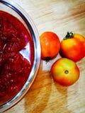 Atasco del tomate Imágenes de archivo libres de regalías