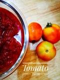 Atasco del tomate Imagenes de archivo